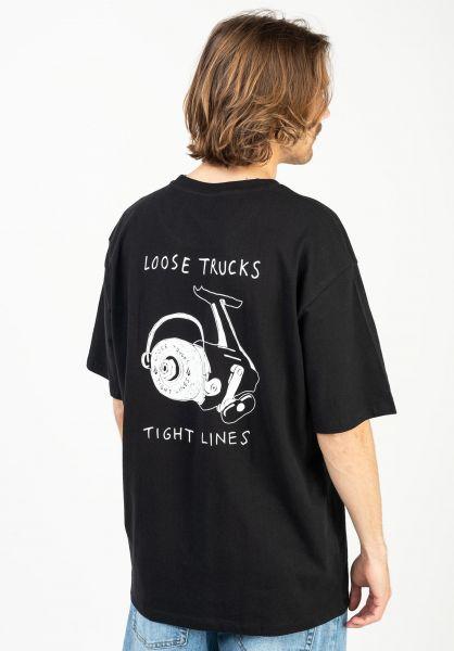 Volcom T-Shirts Loose Trucks LSE black vorderansicht 0323535