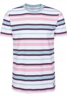 Cleptomanicx T-Shirts Multi Stripe aquifer Vorderansicht