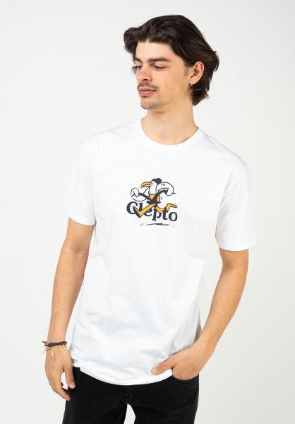 Cleptomanicx T-Shirts Thieves white vorderansicht 0323009