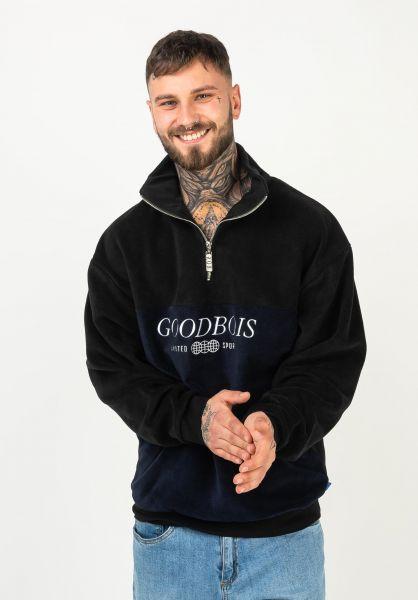 Goodbois Sweatshirts und Pullover Trademark Block Fleece Half Zip navy vorderansicht 0423109