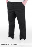 Carhartt WIP Chinos und Stoffhosen Simple Pant (Denison) blackrinsed Vorderansicht