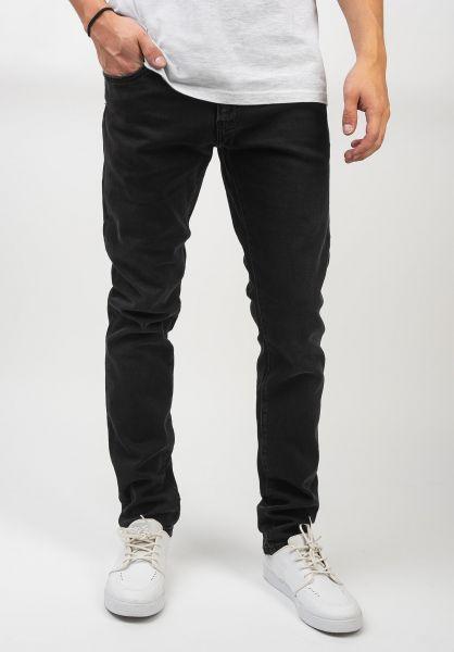 Carhartt WIP Jeans Rebel Pant blackmidwornwash vorderansicht 0269055