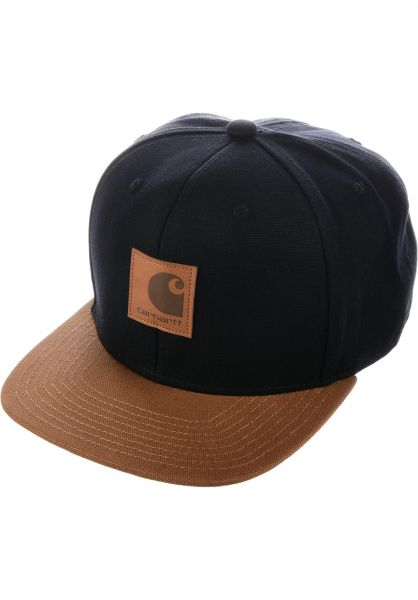 Logo Cap Bi-Colored Carhartt WIP Caps in black-hamiltonbrown for Men ... 843ef4752