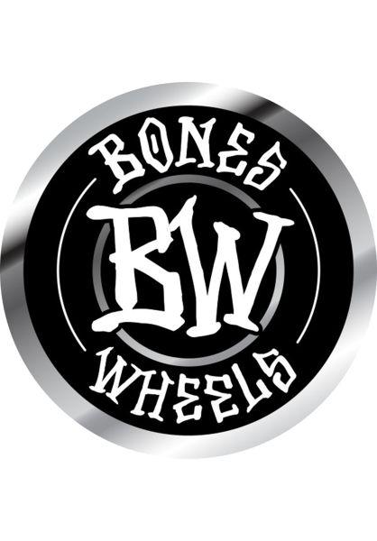 """Bones Wheels Verschiedenes Branded 6"""" Sticker black vorderansicht 0972454"""