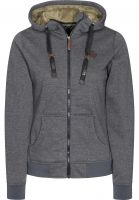 Light Zip-Hoodies Path darkgreyheather-chinchilla Vorderansicht