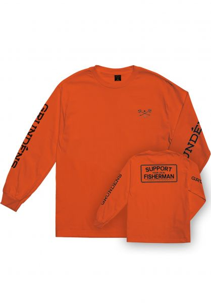 Dark Seas Longsleeves x Grundens Support orange vorderansicht 0382910