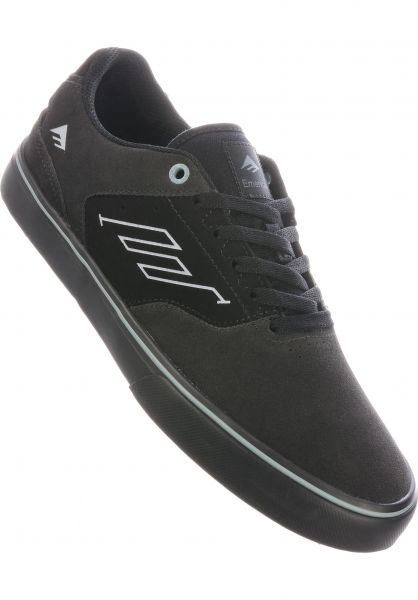 Emerica Alle Schuhe The Low grey-black-blue vorderansicht 0604893