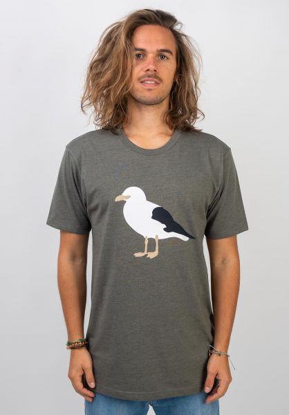 Cleptomanicx T-Shirts Gull 3 heatherdustyolive vorderansicht 0397435