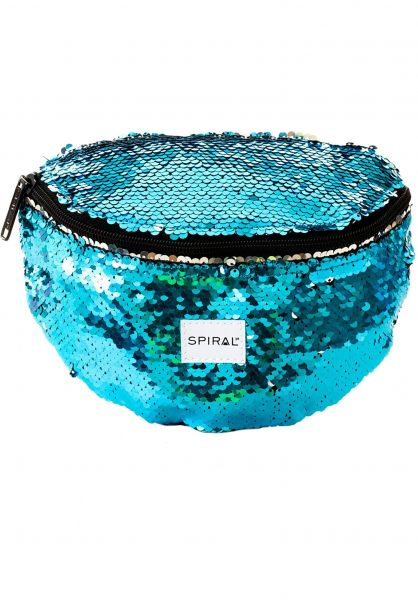 Spiral Hip-Bags Platinum Bum Bag mermaid-blue-sequins Vorderansicht