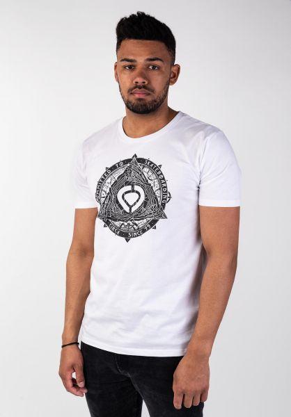 C1RCA T-Shirts Pyramid white vorderansicht 0399767