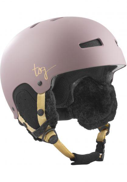 TSG Snowboardhelme Lotus Solid Color satin grayolet Vorderansicht