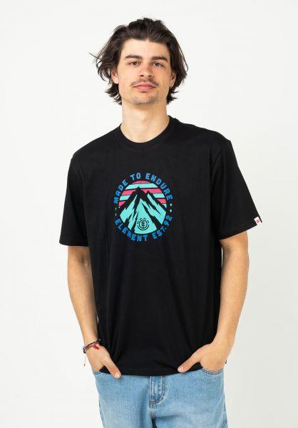 Element T-Shirts Lymont flintblack vorderansicht 0323363