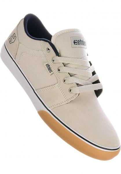 etnies Alle Schuhe Barge LS white-navy-gum vorderansicht 0602679