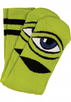 Toy-Machine Socken Sect-Eye-III limegreen Vorderansicht