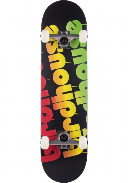 Birdhouse Skateboard komplett Triple Stack Rasta black-rasta Vorderansicht