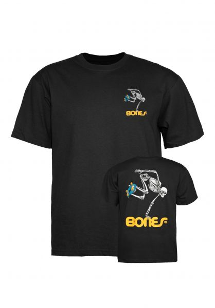 Powell-Peralta T-Shirts Skateboard Skeleton Kids black Vorderansicht