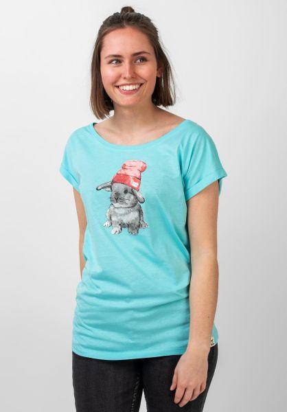 iriedaily T-Shirts It Hasi tahitiblue vorderansicht 0395134