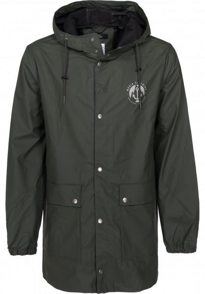 Makia Übergangsjacken Harbour Rain Jacket green Vorderansicht