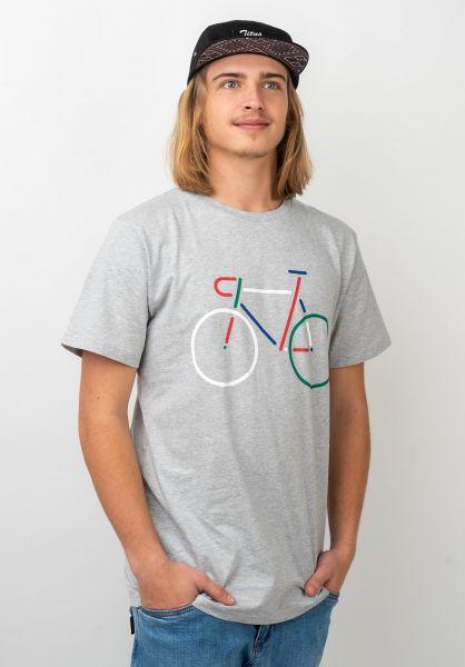 Dedicated T-Shirts Color Bike greymelange vorderansicht 0321136