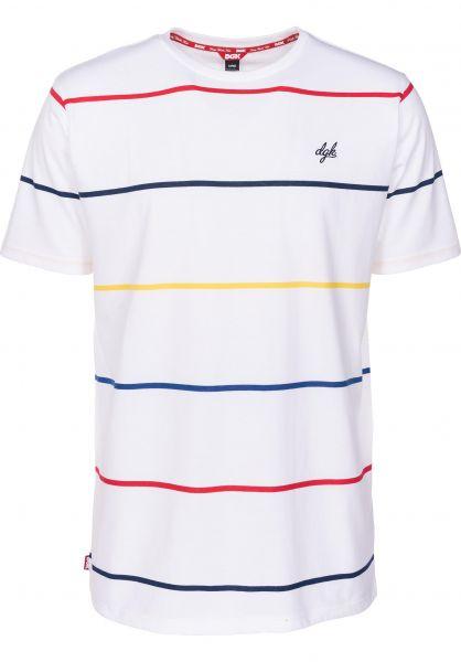 DGK T-Shirts Baseline white Vorderansicht