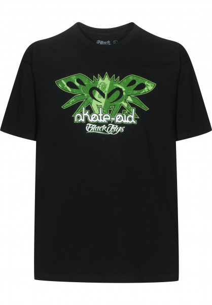 skate-aid T-Shirts x Black Flys collabo black Vorderansicht