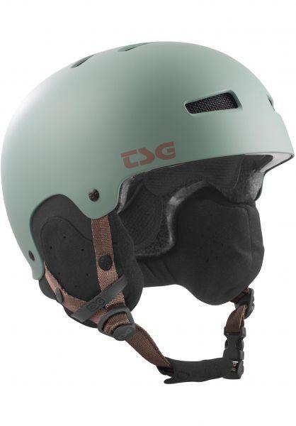 TSG Snowboardhelme Gravity Solid Color satin viridian Vorderansicht