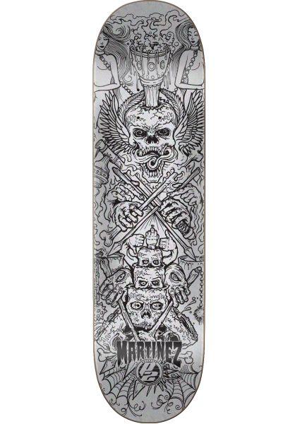 Creature Skateboard Decks Martinez Visions P2 silver-black vorderansicht 0260443