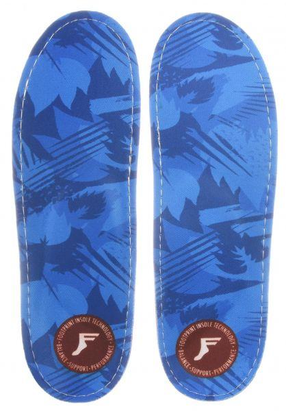 Footprint Insoles Einlegesohlen King Foam Orthotics Low blue-camo vorderansicht 0249139