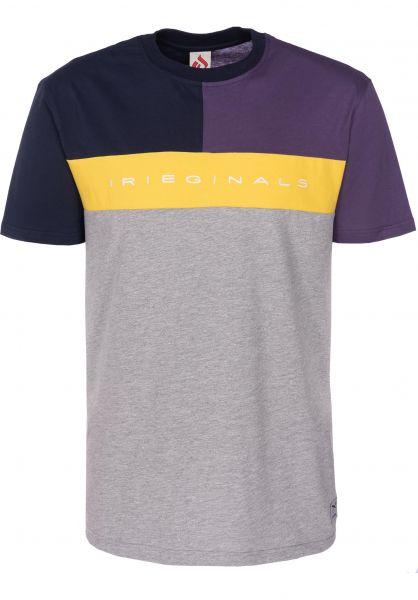 iriedaily T-Shirts Irieginals Block greymelange vorderansicht 0399818