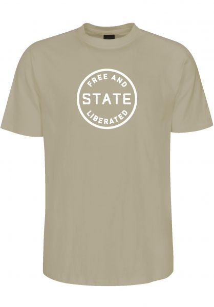 State T-Shirts Free And Liberated lightolive vorderansicht 0383338