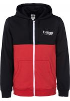 Element Zip-Hoodies Primary flintblack Vorderansicht