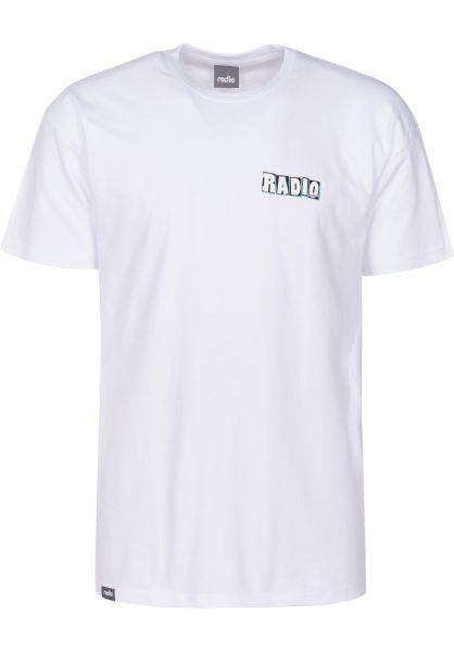 Radio T-Shirts Faker white Vorderansicht