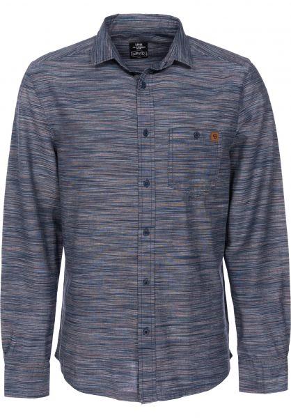 TITUS Hemden langarm Liam navy-striped Rueckenansicht 0411728