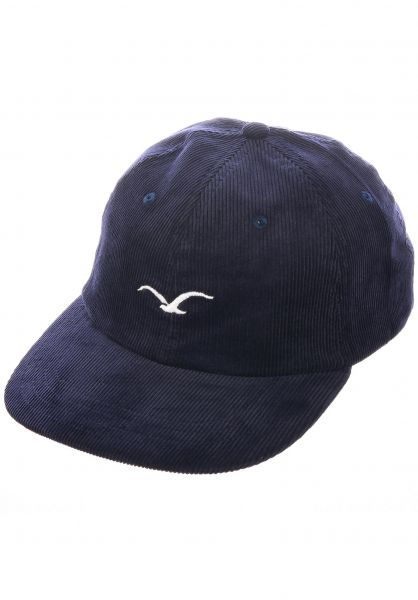 Cleptomanicx Caps Cord Möwe darknavy vorderansicht 0566772