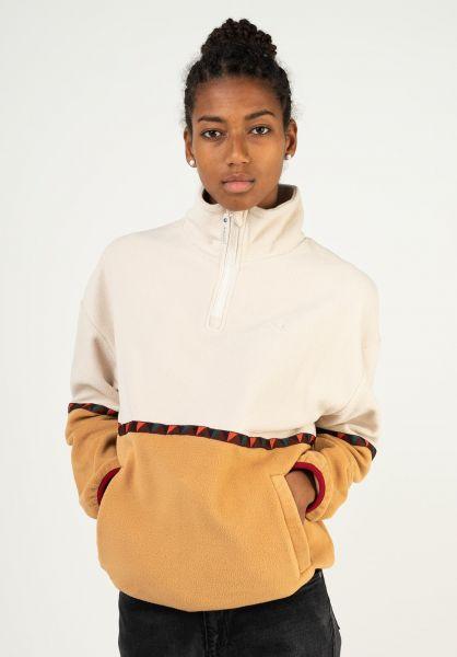 iriedaily Sweatshirts und Pullover Hopi Fleece Troyer caramel vorderansicht 0422703