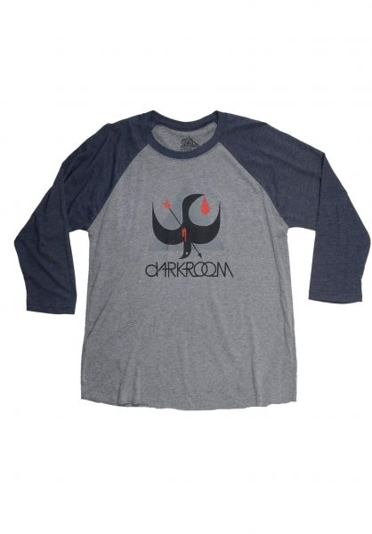 Darkroom Longsleeves Birdstrike Raglan charcoal-navy vorderansicht 0383039