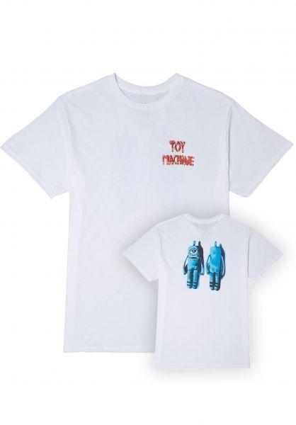 Toy-Machine T-Shirts Sock Puppet white vorderansicht 0323480