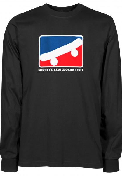 Shortys Longsleeves Skate Icon black Vorderansicht