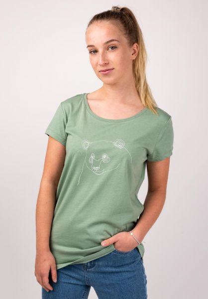 Ragwear T-Shirts Mint B Organic dustygreen vorderansicht 0399361