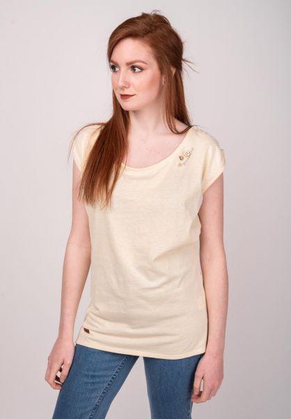 Ragwear T-Shirts Greta yellow vorderansicht 0399351