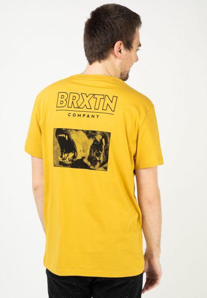 Brixton T-Shirts Bite lemon-curry vorderansicht 0323175