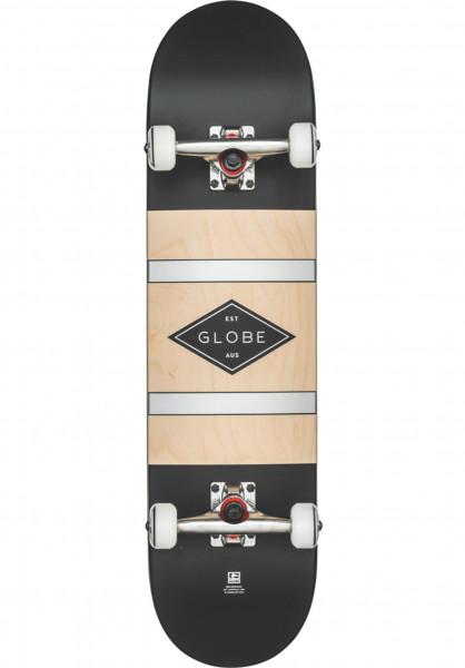 Globe Skateboard komplett Diablo 2 black-silver Vorderansicht