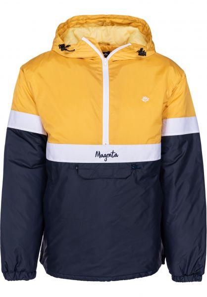 Magenta Windbreaker 96 paleyellow-white-navy vorderansicht 0122258