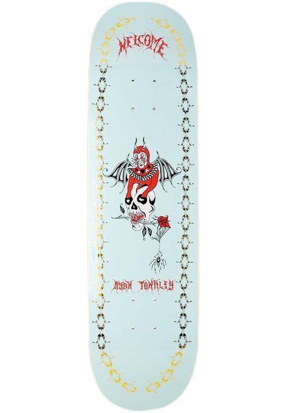 Welcome Skateboard Decks Angel Ryan Townley Enenra light teal - gold foil vorderansicht 0267283