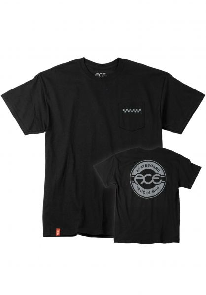 Ace T-Shirts Seal Pocket black vorderansicht 0322315