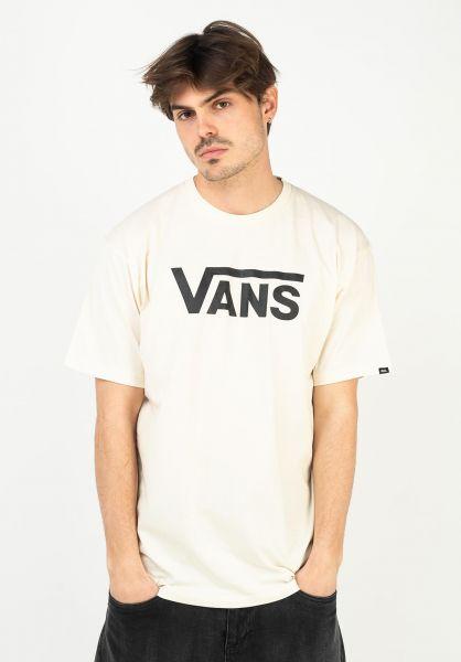 Vans T-Shirts Classic seedpearl-black vorderansicht 0361788