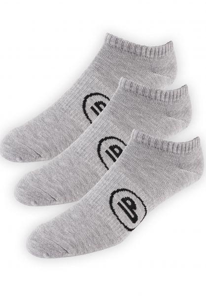 TITUS Socken Classic Icon Short 3er Pack heathergrey Vorderansicht