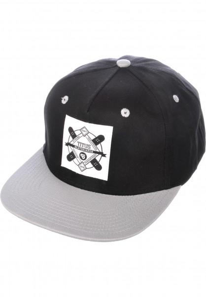 TITUS Caps Emblem Snapback black-grey Vorderansicht
