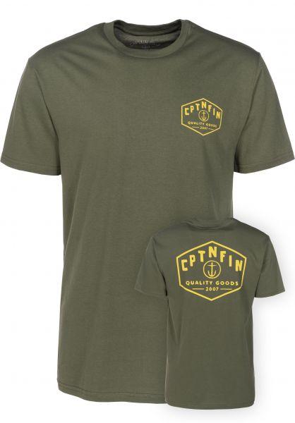 Captain Fin T-Shirts Hexy military Vorderansicht