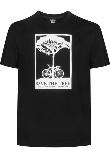 Mahagony T-Shirts Save black Vorderansicht